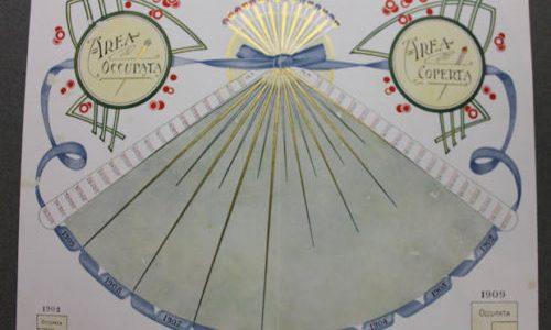 Stampe cromolitografiche piantine azienda cappelli Borsalino Alessandria 1910