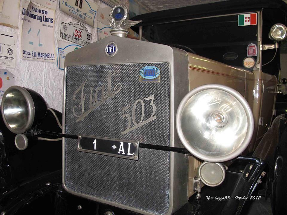 Una vecchia Fiat 503, targata AL