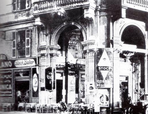 1916 - Il Bar Milano sede dell'Alessandria Unione Sportiva