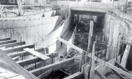 1989 – La costruzione del sottopasso tra Pista e Cristo