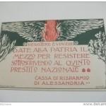 """Manifesto d'invito ai cittadini alla sottoscrizione del prestito della Cassa di Risparmio di Alessandria-resistere e vincere"""""""