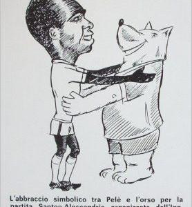 Pelè e l'Orso Grigio – Amichevole Alessandria-Santos (giugno 1968)