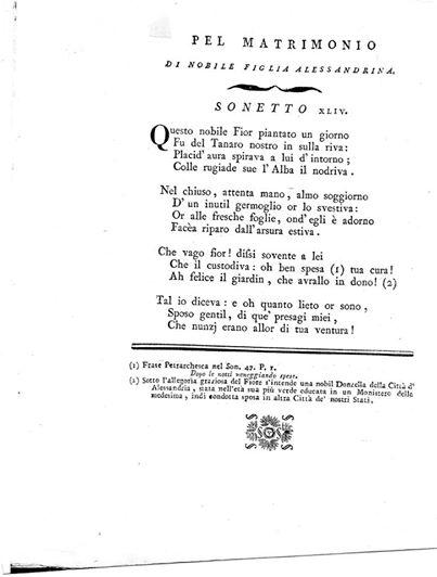 ALESSANDRIA 1791.. il caval... MANFREDO GHILINI.. finalmente sposo