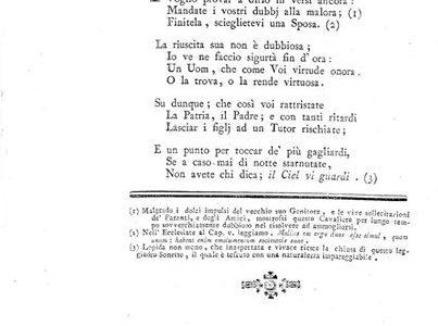 ALESSANDRIA 1789.. sonetto dedicato al caval… MANFREDO GHILINI.. che tenacemente restava scapolo…