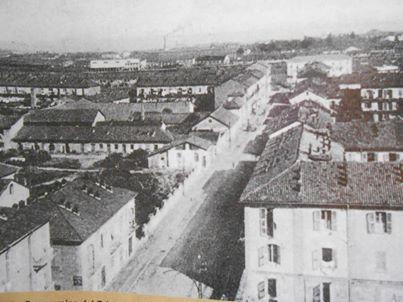 corso Acqui fotografato dal campanile, direzione corso Carlo alberto anni '30