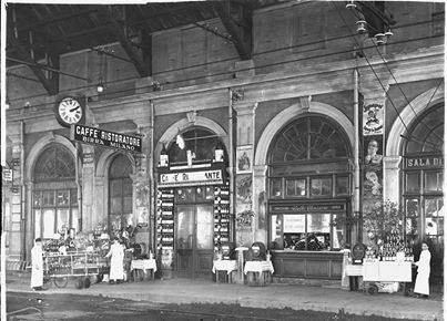Primo binario della Stazione di Alessandria – tardo anni '20 (fondo Sartorio – Fototeca Civica)