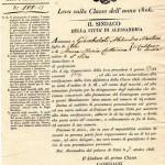 1826 chiamata di leva militare