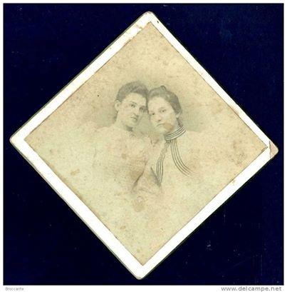FOTO CARTONATA - LE SORELLINE - STUDIO G. B.MIGNONE - ALESSANDRIA.