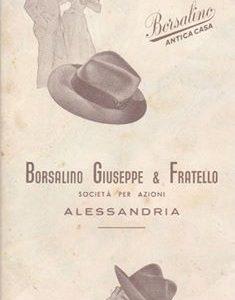 PUBBLICITA' BORSALINO CARTINA DI ALESSANDRIA 1950.