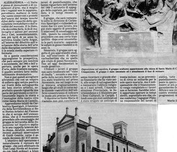 Restauro della chiesa di S. Maria di Castello