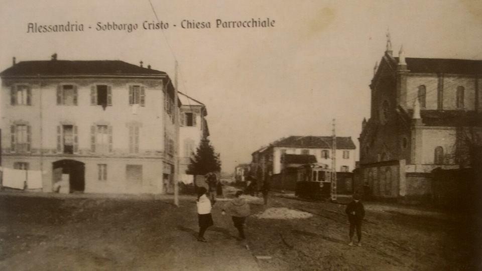Alessandria cristo...Corso Acqui e chiesa parrocchiale.