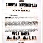 Manifesto del Comune di Alessandria per la presa di Roma – 21 settembre 1870