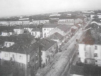 Corso Acqui fotografato dal campanile, direzione corso Carlo Alberto 1943.
