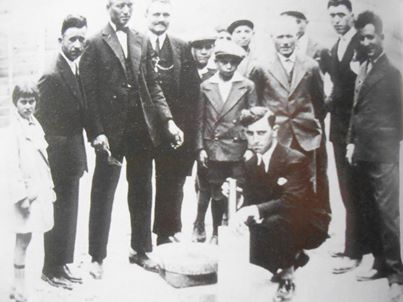 Posa della prima pietra del campanile chiesa 'S.Giovanni' 1930.