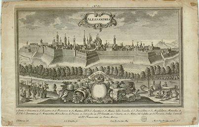 Alessandria - F.B. Werner del.; J.G.Ringlin Sc.; Mart. Engelbrecht excud. A.V. - Gabinetto delle Stampe antiche e moderne, Alessandria.