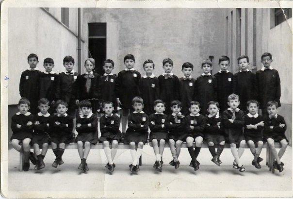 Prima D scuola elementare Deamicis 1967
