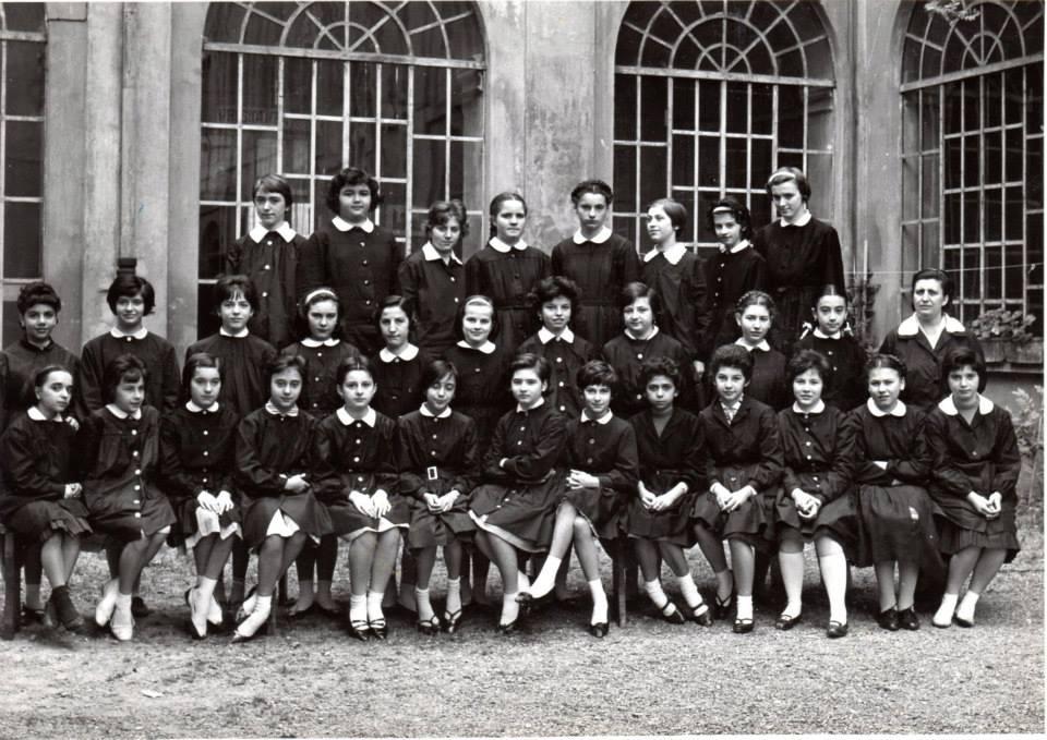 """Scuola Media """"Andrea Vocchieri""""- a.s. 1960/61 Classe prima. Insegnante di Lettere: prof. Visca"""