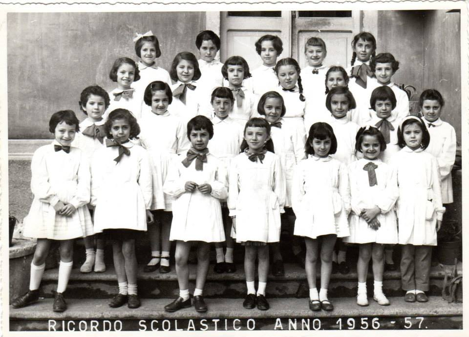 "Scuola elementare ""Galileo Galilei"" -A.S. 1956/57 Classe seconda. Insegnante: Giuseppina Berruti Longo"