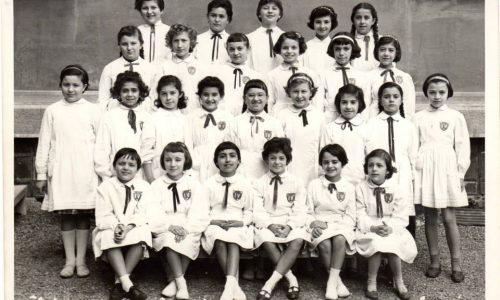 "Scuola elementare ""Galileo Galilei"" -A.S. 1958/59 Classe quarta. Insegnante: Giuseppina Berruti Longo"