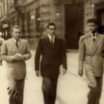 Ugo Boccassi e Cesarino Fissore in Corso Roma (sconosciuto il personaggio al centro)