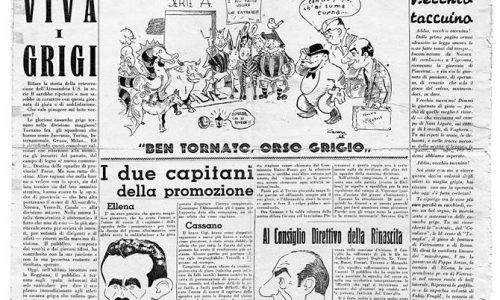 I giornali parlano dei Grigi