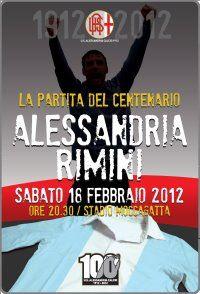 Alessandria-Rimini 2012 partita del centenario