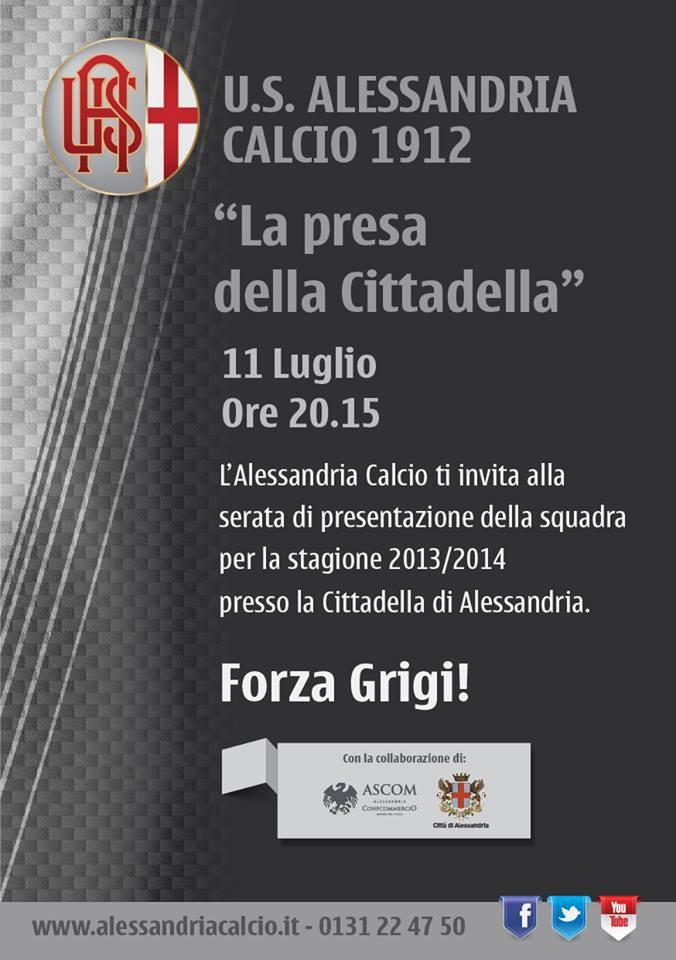 Giovedì 11 Luglio 2013 - presentazione della nuova Alessandria Calcio