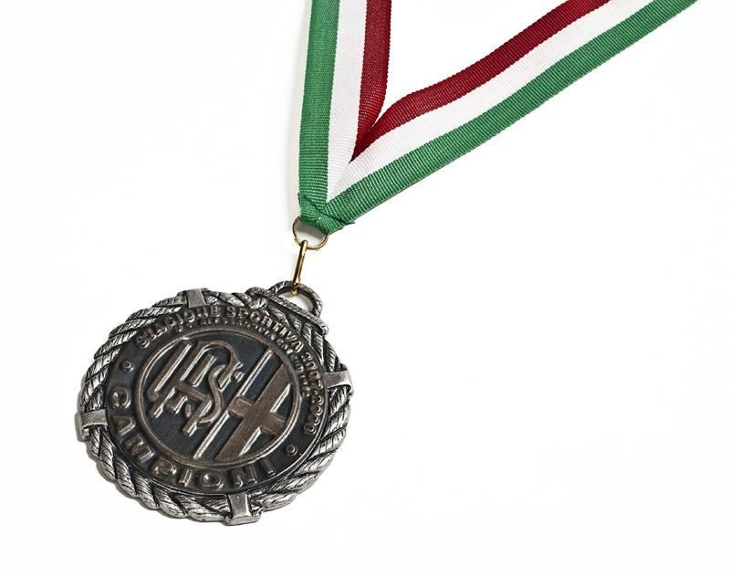 U.S. Alessandria 2007-08 - la medaglia donata ai giocatori in ricordo della promozione in serie C2.