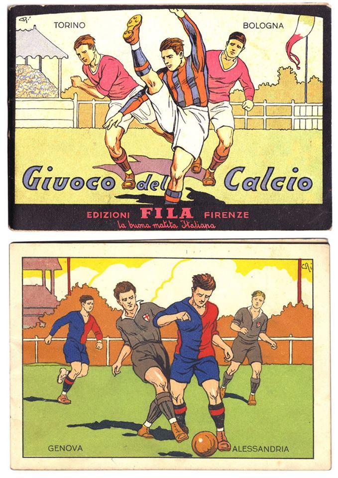 U.S. Alessandria anni 30 - libretto prodotto dalla ditta Fila. Sono riprodotte azioni di gioco da colorare con le squadre di serie A dell'epoca. Tra esse anche i Grigi....