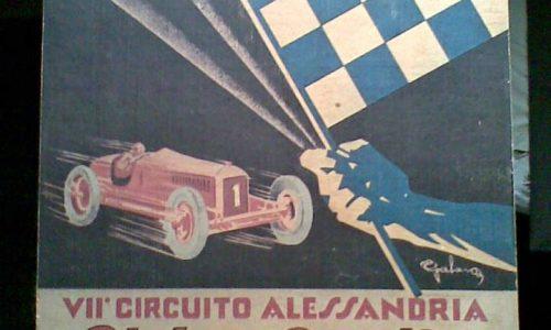 """VII° Circuito automobilistico """"Pietro Bordino"""" – Alessandria 1930"""