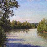 Paesaggio sulla riva del Tanaro (Francisco Centofanti Artworks)
