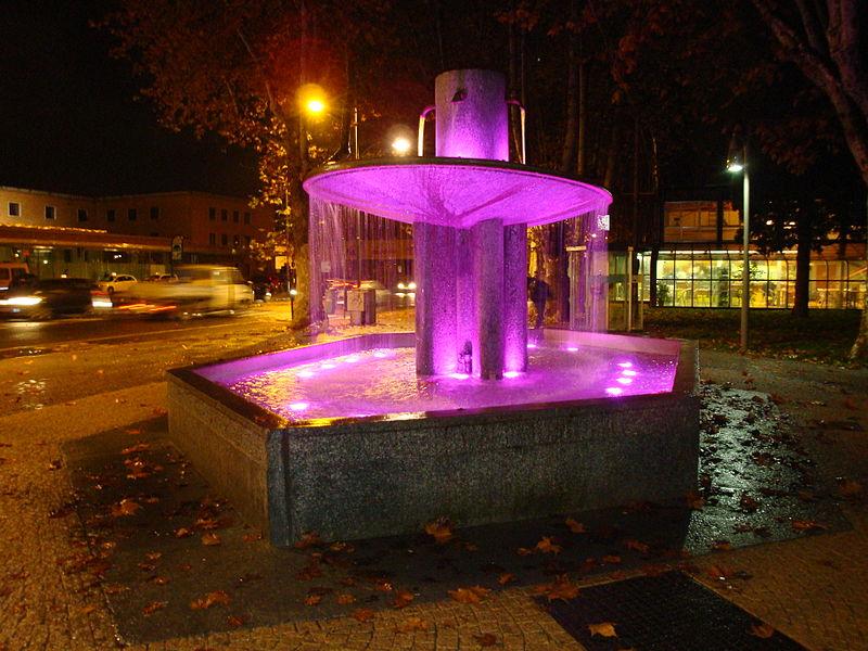 La Fontana dell'Impero nei Giardini Pubblici