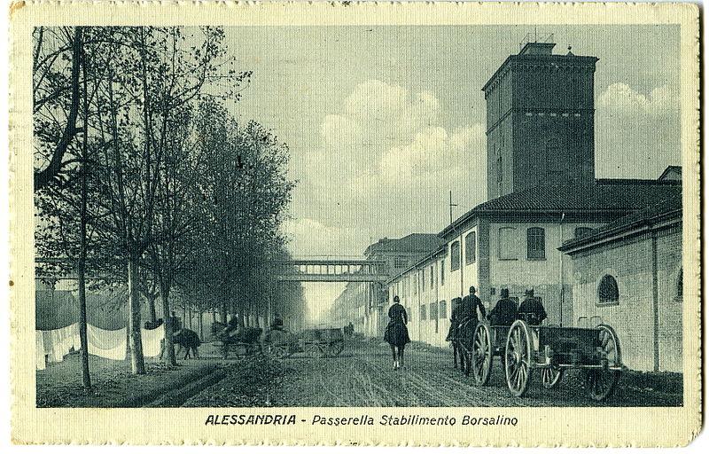 Alessandria - Lo Stabilimento Borsalino - 1910-'15 circa - Collezione Tony Frisina - Alessandria