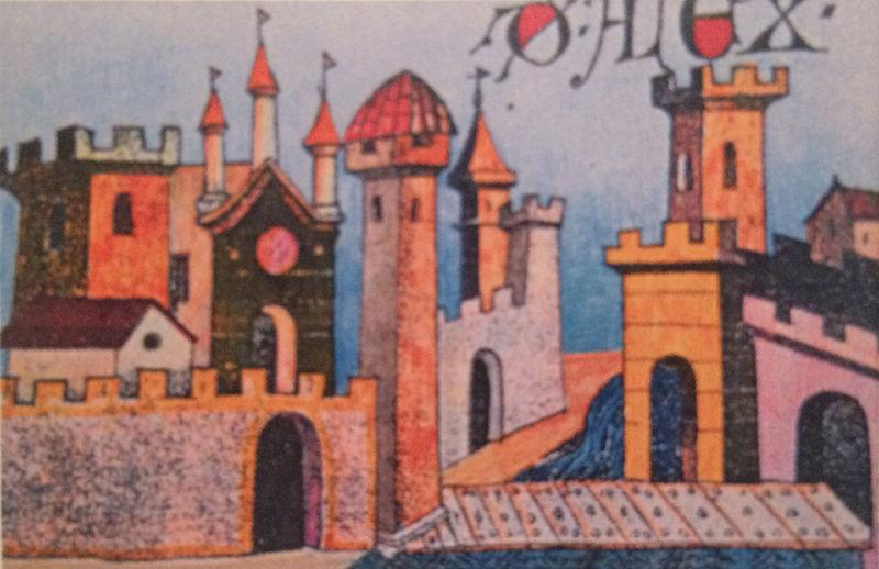 Immagine allegorica della città di Alessandria (secolo XIV)