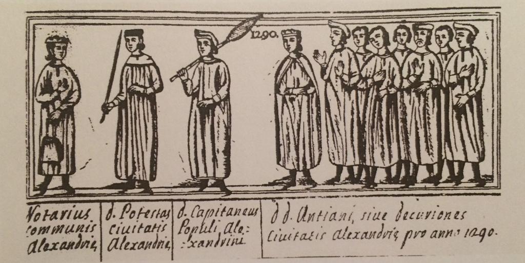 Immagine degli amministratori del Comune di Alessandria (1290)