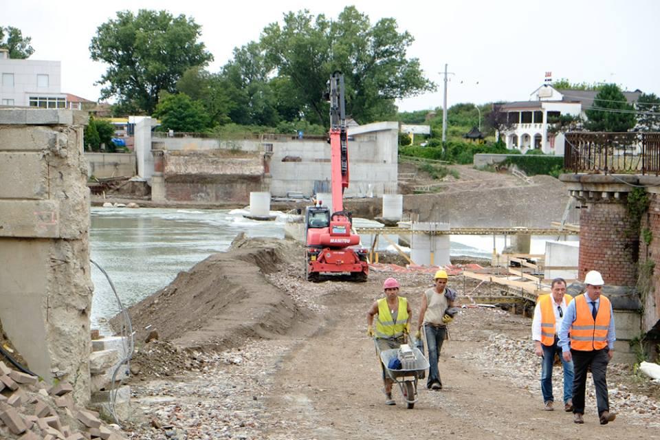 Fasi della costruzione del ponte Meyer - Luglio 2014