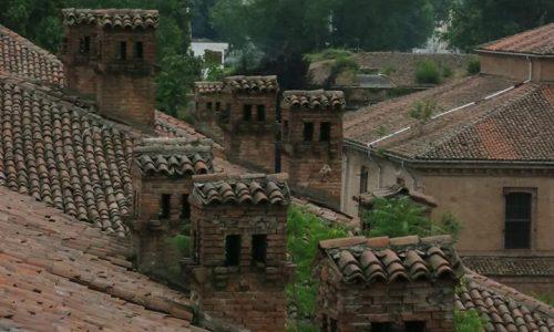 Vista dal tetto della cittadella di Alessandria (Edificio delle carceri).