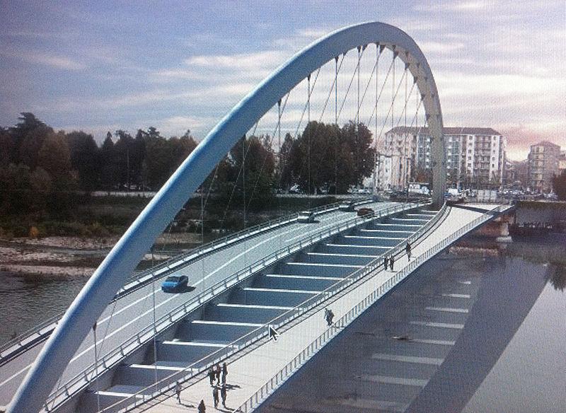 Rendering del nuovo Ponte Cittadella
