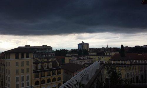 Panorama di Alessandria con temporale in arrivo – luglio 2014