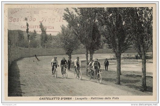 Alessandria - Castelletto d'Orba - Lavagello - Rettilineo della pista - Ciclismo - 1926
