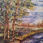 Giancarlo Fracchia – Alessandria : Nei pressi di Casalbagliano – Dipinto a Olio