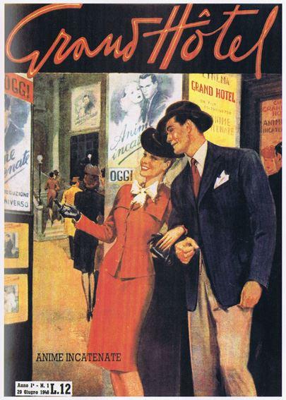 1946 il primo numero di Grand Hotel, al prezzo di 12 lire per sedici pagine: il successo è, sin dalle prime copie, molto grande. Le 100 mila copie del primo numero vanno a ruba e leggenda vuole che sia stato ristampato quattro volte.