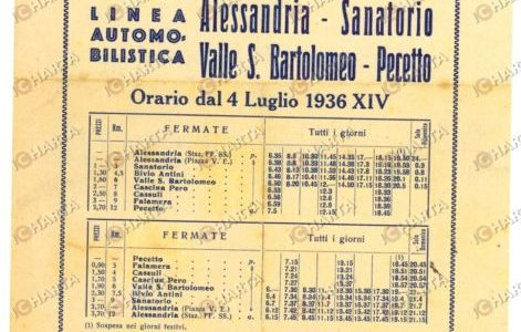 1936 Autotrasporti ALESSANDRIA Linea Sanatorio-PECETTO