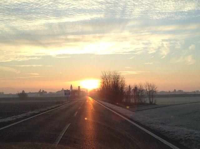 Castellazzo Bormida all'alba (foto Marta Sciorati).