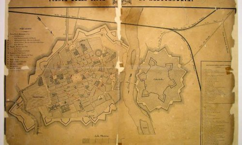 Antica piantina della città di Alessandria