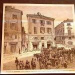 Il disastro di Alessandria nel 1880 Piazzetta della Lega dopo una sciagura.