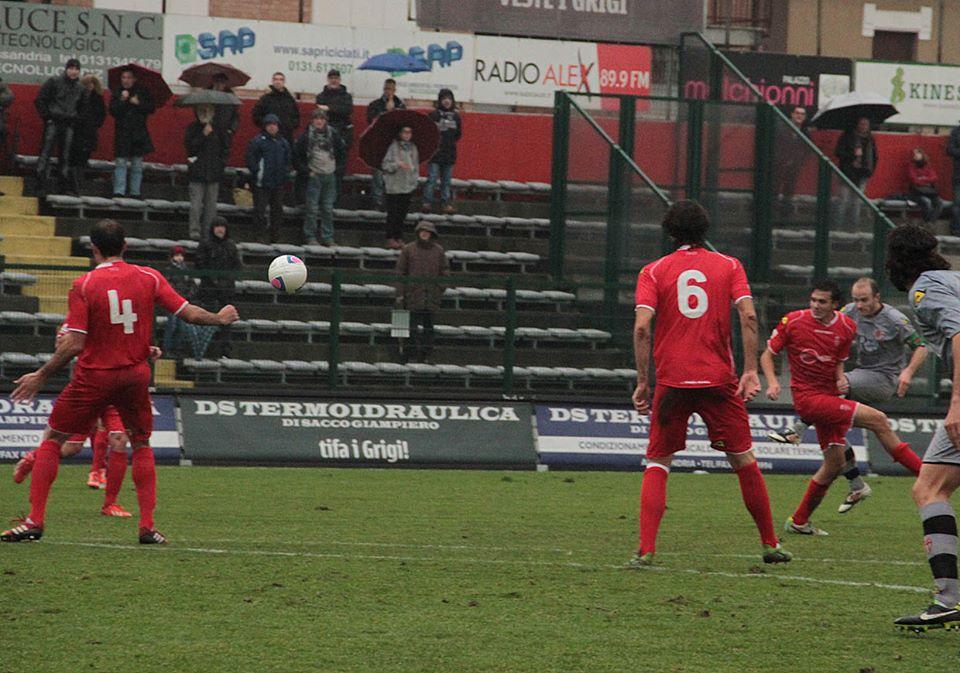 19-01-014 Alessandria-Monza 2-1. Gol di Cavalli