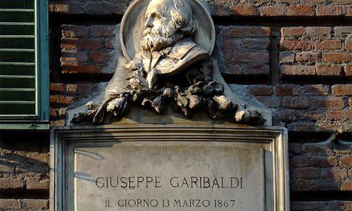13 marzo 1867 – G. Garibaldi arringava gli alessandrini da questo balcone