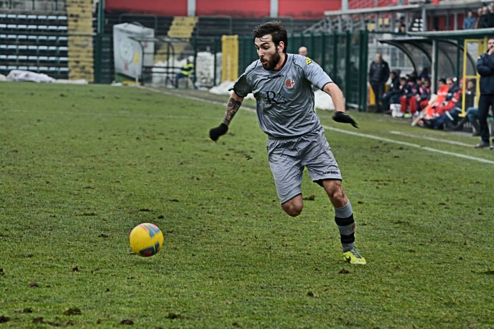 Alessandria - Real Vicenza 2-0 - 02-02-014.  Luca Mora