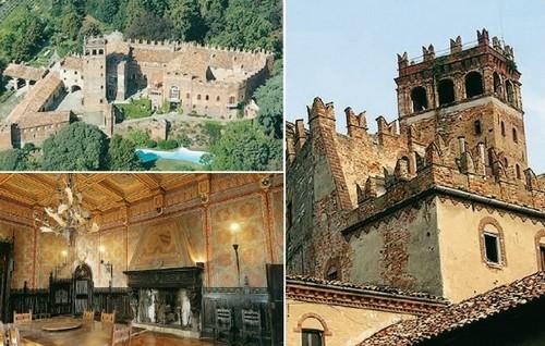 """Il castello sorge sulle pendici del Monferrato. Immerso in un grande parco di alberi secolari, si presenta con un corpo merlato sovrastato da un torrione quadrangolare che termina in un leggero loggiato. Dalla sommità della sua torre si può ammirare un meraviglioso panorama che va dal Monferrato alla valle del Po, fino alla cerchia delle Alpi. il castello ha origini antichissime, è documentata l'esistenza della sua antichissima torre sin dal Medioevo verso l'anno 1000. Per la sua posizione su un'altura fu un importante punto di avvistamento e di difesa, grazie anche alla sua cinta muraria entro la quale si rifugiavano gli abitanti della zona per proteggersi nei momenti di pericolo. Sino al 1200 appartenne ai Vescovi d'Asti per passare poi ai Marchesi del Monferrato. Nel 1323 d.C. Teodoro Paleologo, per motivi economici, concesse ai fratelli Tommaso e Francesco Scarampi, banchieri e mercanti d'Asti, il feudo di Camino. Da allora fino al 1950 il Castello è sempre rimasto proprietà della famiglia Scarampi di Villanova. Nella sua lunga storia il Castello di Camino fu coinvolto in diverse battaglie soprattutto durante il 1600 d.C. periodo di guerra tra Francia e Spagna. Un episodio tra storia e leggenda, datato intorno al 1400 d.C., viene raccontato da Matteo Bandello nella sua XIII novella. Il castello può annoverare tra i suoi ospiti più illustri, Vittorio Emanuele II, Umberto I e Vittorio Emanuele III di Savoia. Anche Mussolini lo scelse in occasione dell'inaugurazione dell'acquedotto del Monferrato. L'ala cinquecentesca laterale del Castello attentamente restaurata, ospita i visitatori nelle sue 12 camere arredate con mobili antichi con trattamento di bed & Breakfast. Il castello offre una delle migliori soluzioni ricettive per chi vuole concedersi un soggiorno indimenticabile nel verde delle colline del Monferrato, itinerari famosi come """"strade del vino"""". Anche i vigneti del castello producono vino pregiato, come Barbera, Grignolino, Chardonnay, Monferrato Rosso, Gr"""